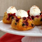 Mini Cranberry Chocolate Upside-Down Cakes