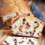 Cranberry Orange Chocolate Chip Loaf Cake
