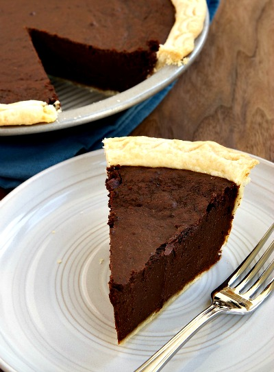 Homemade Hot Fudge Pie