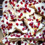 Lemon Cookie Bars with Pomegranate Seeds