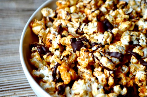 Movie Treats: Ras el Hanout Spiced Popcorn with Chocolate