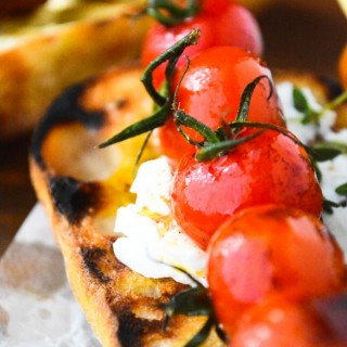 Grilled Cherry Tomato Bruschetta